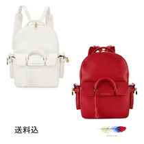BUSCEMI A4 Leather Backpacks