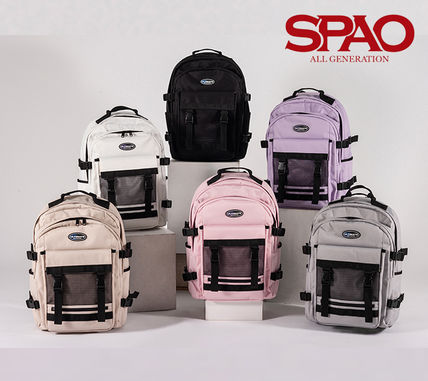 Unisex Street Style Collaboration A4 Backpacks