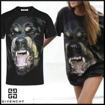GIVENCHY Crew Neck Unisex Other Animal Patterns Cotton Short Sleeves