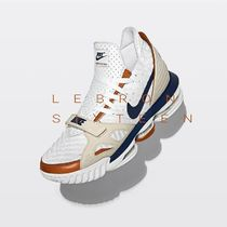 Nike Unisex Blended Fabrics Street Style Leather Sneakers