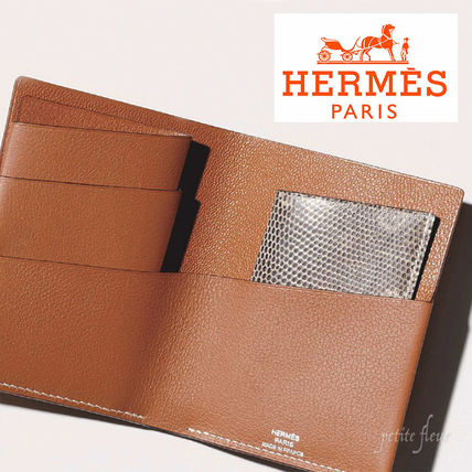 HERMES Folding Wallets Leather Folding Wallets