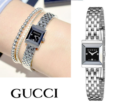 GUCCI Casual Style Street Style Square Quartz Watches