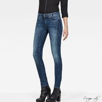 G-Star Plain Cotton Long Skinny Jeans
