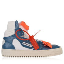 Off-White OFF COURT Casual Style Unisex Street Style Leather Low-Top Sneakers