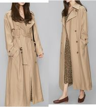 AIN Casual Style Plain Long Midi Oversized Trench Coats