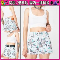 DOLLS KILL Short Flower Patterns Casual Style Denim