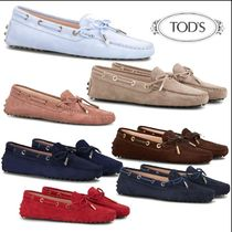 TOD'S Moccasin Suede Plain Flats