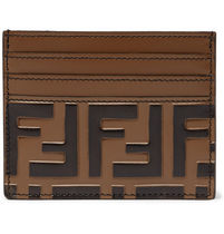 FENDI 3JOURS Unisex Street Style Plain Leather Card Holders