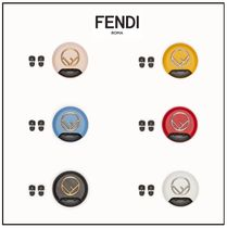 FENDI Blended Fabrics Plain Leather Accessories