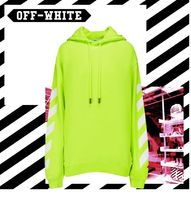 Off-White Long Sleeves Cotton Hoodies & Sweatshirts