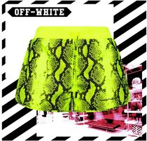Off-White Python Shorts