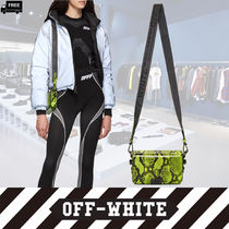 Off-White Casual Style 2WAY Plain Leather Handmade Python