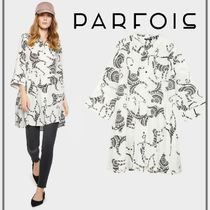 PARFOIS Casual Style Long Sleeves Medium Shirt Dresses Dresses