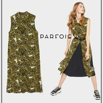 PARFOIS Casual Style Sleeveless Other Animal Patterns Medium