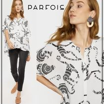 PARFOIS Casual Style Other Animal Patterns Medium Short Sleeves