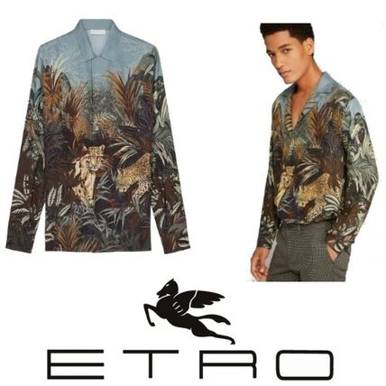 16ca06c6f1f503 ... ETRO Shirts Tropical Patterns Silk Long Sleeves Other Animal Patterns  ...