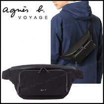 Agnes b Unisex Nylon Plain Hip Packs