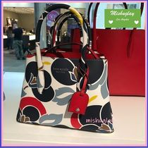 kate spade new york Flower Patterns 2WAY Leather Elegant Style Handbags