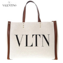 VALENTINO Casual Style Canvas Studded Totes