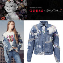 Guess Casual Style Denim Street Style Jackets