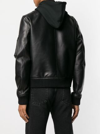 cf0d4e36b Off-White 2019 SS Leather MA-1 Bomber Jackets