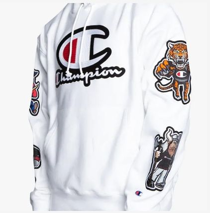 CHAMPION Hoodies Leopard Patterns Unisex Street Style Long Sleeves 3