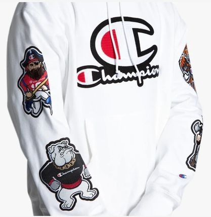 CHAMPION Hoodies Leopard Patterns Unisex Street Style Long Sleeves 4