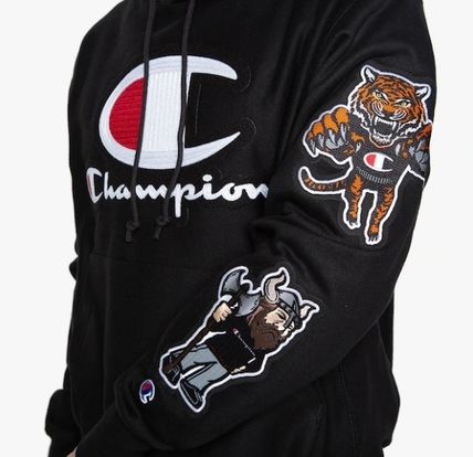 CHAMPION Hoodies Leopard Patterns Unisex Street Style Long Sleeves 6