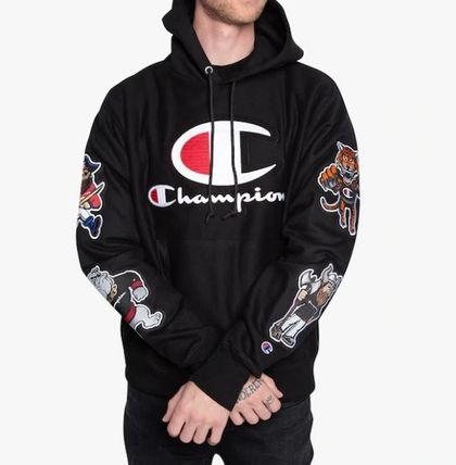 CHAMPION Hoodies Leopard Patterns Unisex Street Style Long Sleeves 7