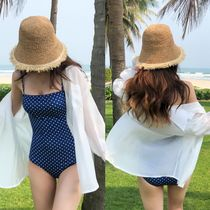 Street Style Plain Oversized Beach Cover-Ups