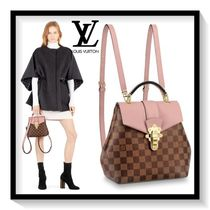 Louis Vuitton Other Check Patterns Casual Style Canvas Blended Fabrics