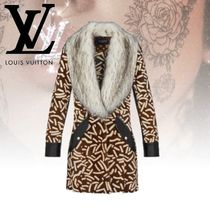 Louis Vuitton Wool Blended Fabrics Other Animal Patterns Long