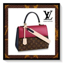 Louis Vuitton Monogram Casual Style Blended Fabrics 2WAY Leather Handbags
