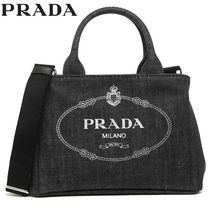 PRADA CANAPA 2WAY Plain Totes
