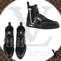 Louis Vuitton Blended Fabrics Chain Leather Boots
