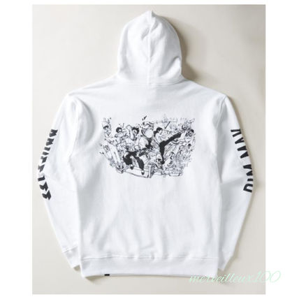 Pullovers Street Style Collaboration Long Sleeves Cotton