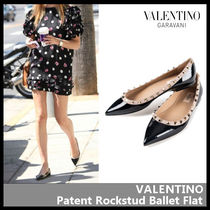 VALENTINO Casual Style Street Style Leather Flats
