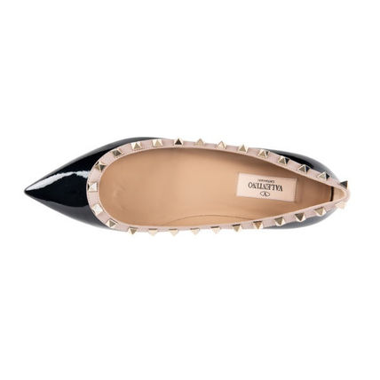 VALENTINO More Flats Casual Style Street Style Leather Flats 2