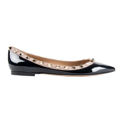 VALENTINO More Flats Casual Style Street Style Leather Flats 3