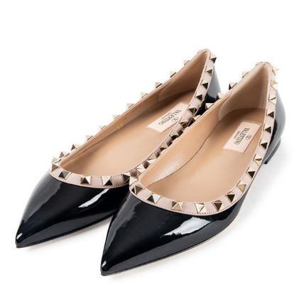 VALENTINO More Flats Casual Style Street Style Leather Flats 4