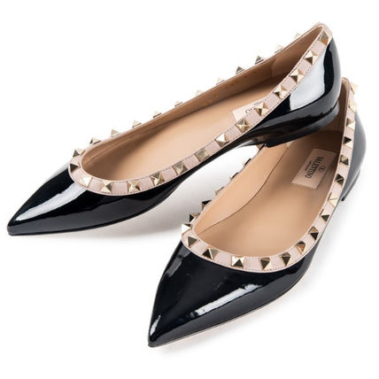 VALENTINO More Flats Casual Style Street Style Leather Flats 5