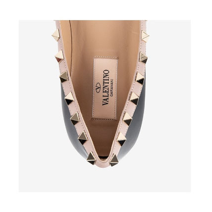 VALENTINO More Flats Casual Style Street Style Leather Flats 8