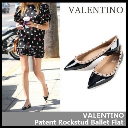 VALENTINO More Flats Casual Style Street Style Leather Flats