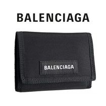 BALENCIAGA Nylon Plain Folding Wallets
