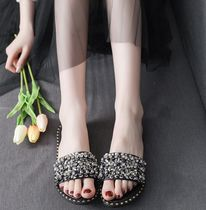 Open Toe Platform Casual Style Faux Fur Blended Fabrics