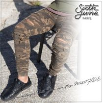 Sixth June Printed Pants Camouflage Street Style Cotton Patterned Pants
