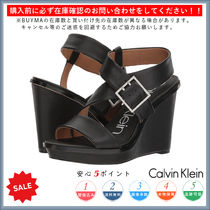 Calvin Klein Open Toe Casual Style Plain Peep Toe Pumps & Mules