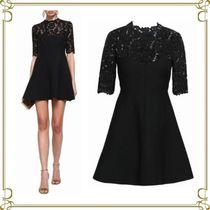 VALENTINO Short Flared Short Sleeves Party Style Dresses
