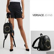 VERSACE Casual Style Faux Fur Street Style 2WAY Plain Backpacks