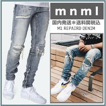 MNML Street Style Plain Cotton Jeans & Denim
